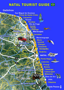 Map Natal Tourist Guide excursions