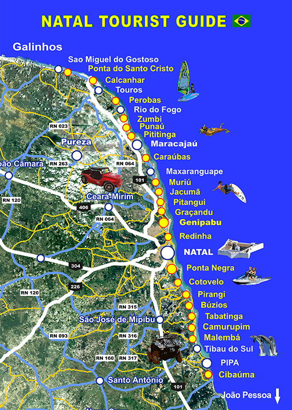 Natal Tourist Guide excursions map guia